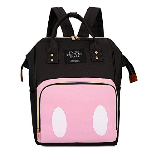 Baby Diaper Changing Bag - New Large Capacity Nappy Back Pack, Mother and Child Bags (Pink-3)