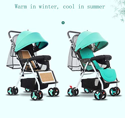 RAPLANC Baby stroller for 2020, Foldable stroller, Travel system, with extra storage space, four-wheel shock absorption, high view and stylish stroller,Blue RAPLANC Lightweight – A lightweight stroller makes any outing a little easier! The Convenience Stroller has a durable Aluminum frame that weighs just 9 pounds and has a large seat area, plus anti-shock front wheels and lockable rear wheels. 3-Position Recline – Keep your little one comfortable and safe at all times with the 3 position recline and 5 point safety harness. Compact Foldable Stroller – The easy compact fold with carry strap and auto lock makes it simple to store this lightweight umbrella stroller and bring it with you to go! Plus, the adjustable and removable canopy with flip out sun visor is perfect for sunny days. 6