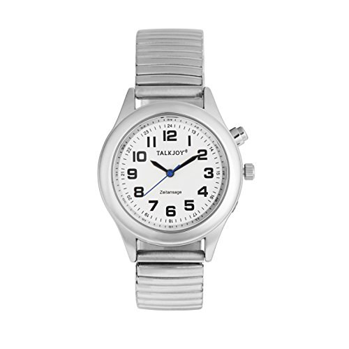 Profi Damen Sprechende Armbanduhr Silber Uhr Senioren Blindenuhr Sprachfunktion