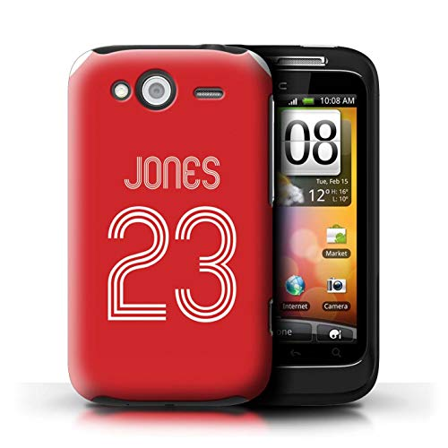 eSwish telefoonhoesje/Cover/Skin/HTC-CC/Custom Football Club Shirt Kit Jersey Collection HTC Wildfire S/G13 Rood Wit