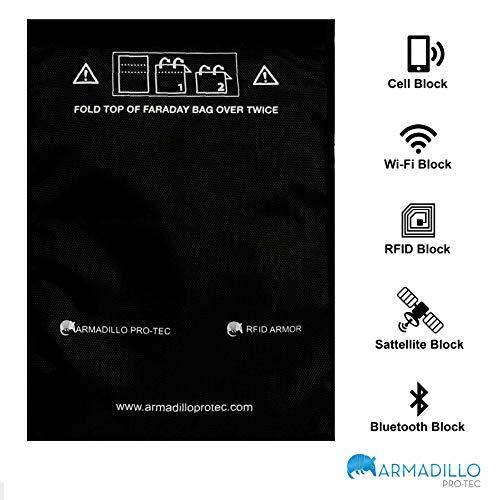 RFID Faraday, Tabletas, Teléfonos Móviles, Ilaveros - Detiene la Piratería, Seguimiento y Snooping. Protege Dispositivos de EMF y EMP.