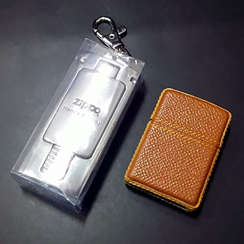 zippo 革巻き 携帯灰皿付き 2005年製造