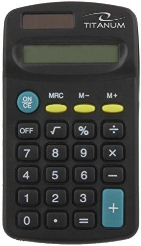 Titanum TALES Taschenrechner, Dual-Power Solar und Batterie, klein & kompakt