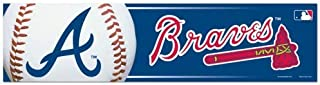 WinCraft MLB Atlanta Braves WCR13297713 Bumper Strip, 3