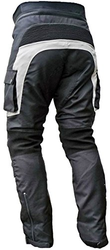 Sportliche Motorrad Hose Motorradhose Schwarz Grau Gr. L - 2