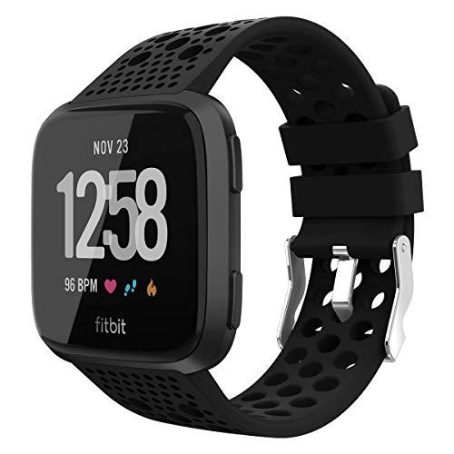 WASPO für Fitbit Versa Armband/Fitbit Versa 2 Armband, Atmungsaktive Ersatzbänder Sportuhrenarmband Kompatibel mit Fitbit Versa/Versa Lite Edition/Versa Special Edition/Versa 2, Damen Herren