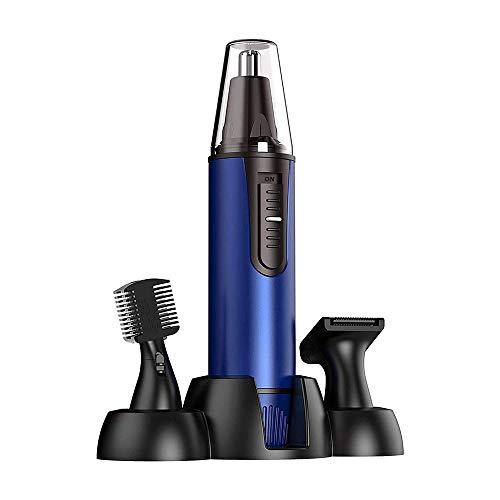 XTZJ Oreja y nariz Cortadora de cabello Clipper para hombres Mujeres, 3 en 1 USB Profesional recargable Ceja eléctrica y recortadora de cabello facial con cabeza impermeable Hoja de acero inoxidable d