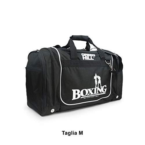 GREEN HILL Borsa Sportiva Boxing Borsone Sport Pugilato Palestra Fitness (Nero, Large)