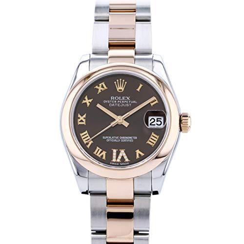 ロレックス ROLEX デイトジャスト 178241 チョコレートローマ文字盤 中古 腕時計 レディース (W196016) [並行輸入品]