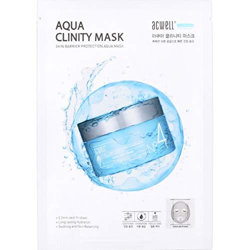 Acwell N'4 Skin Barrier Protection AQUA Clinity Mask Deep Hydrating Moisturizing Nourishing Facial Mask, 5pcs