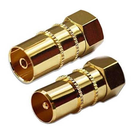 Antennen Adapter 2 x F-Kupplung auf F-Stecker + T-St/ück 1x 1x Sat-Fox 1 x AntennenAdapter F-Stecker auf Koax Stecker AntennenAdapter F-Stecker auf Koax Buchse +