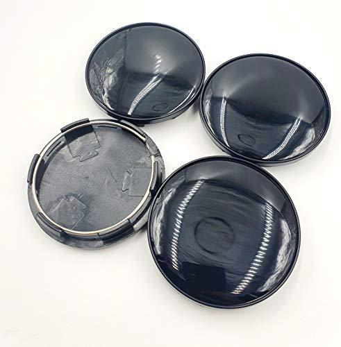 JK Set of 4 Alloy Wheel Hub Centre Caps 60mm Black No Log
