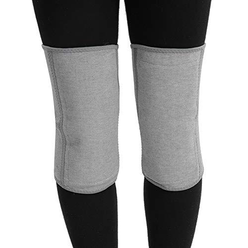 Winter Kniewärmer, Verdicken Verlängern Atmungsaktive Elastische Kaschmir Knieschoner, Beinwärmer Stulpen mit warmen hochwertigem Wolle, Verstauchungen zu reduzieren(M)