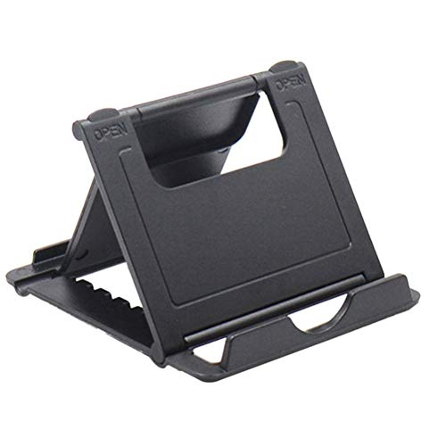 Universal portátil plegable teléfono titular escritorio multi-ángulo soporte para tabletas Smartphones y otros dispositivos móviles (negro) para regalo