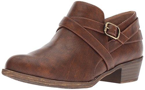 LifeStride Women's Adley Ankle Boot, Whiskey, 7.5 W US