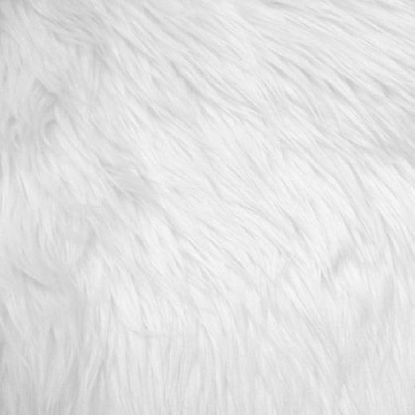 White Shag Faux Fur Fabric 60