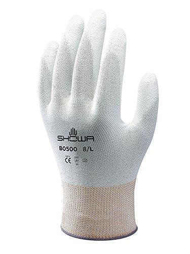 SHOWA B0500 Polyurethan – Beschichtung, Mehrzweck, Weiß mit weißer Beschichtung, 9/XL