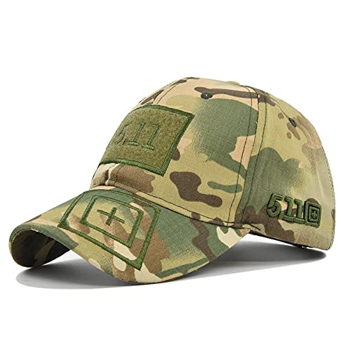Gorra de béisbol Ejército Verde Camuflaje al aire libre táctico de la selva sombrero 5.11 etiqueta mágica militar Cap