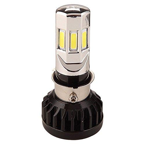 GZCRDZ Lot de 1 ampoule LED H4 blanche BA20D P15D H6 HS1 3500LM 35W pour moto 6COB 6000K (35W)