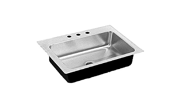 Just SL-2231-A-GR-3 Single Bowl 18-Gauge T-304 Stainless Steel Commercial Grade Drop In Sink