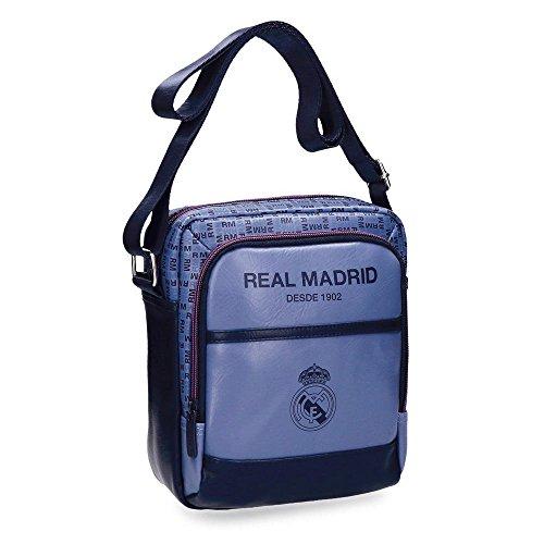 Real Madrid Blue RM Bolso Bandolera, 22 cm, 3.83 litros, Morado