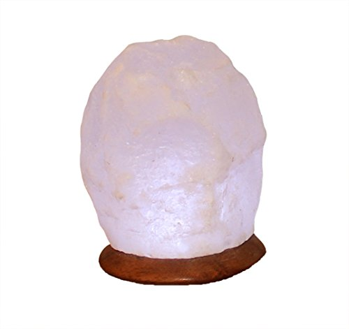 Himalaya Sel Dreams – beleuchteter Cristal USB Rock White Line avec Socle en Bois, avec USB LED électronique, pour Ordinateur et Ordinateur Portable