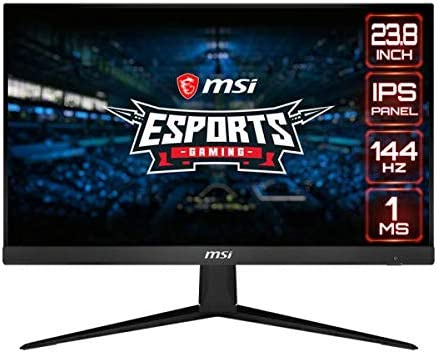 MSI Optix G241-24 inch IPS Gaming Monitor – Full HD - 144hz Refresh Rate - 1ms Response time – AMD Freeync for Esports