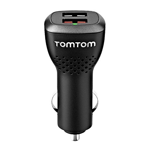 TomTom Duales USB Auto-Schnellladegerät (geeignet für alle TomTom Navigationsgeräte, z.B. Start, Via, GO Basic, GO Essential, Rider, GO Professional, GO Camper)