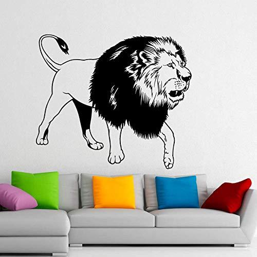 Mode Tier Wandaufkleber Home Decoration König Der Löwen Vinyl Wandaufkleber Art Design Abnehmbares Wandbild, Wandaufkleber Für Zuhause