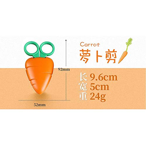 1Pc Kawaii Cute Scissors Forma de Fruta Para Niños Suministros de Oficina Para Estudiantes Caja Fuerte Sin lastimar las Manos