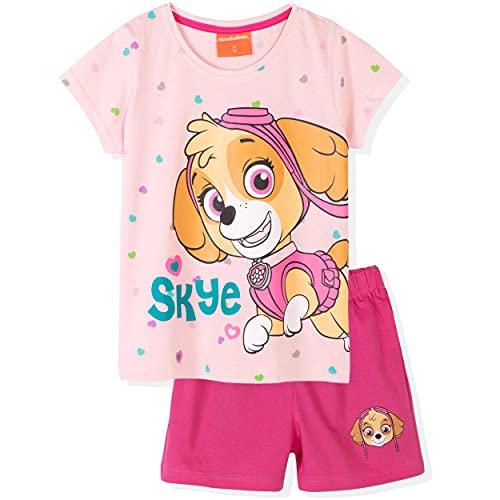 Paws Skye Character - Pijama de manga corta para niña (100% algodón, 2-8 años)