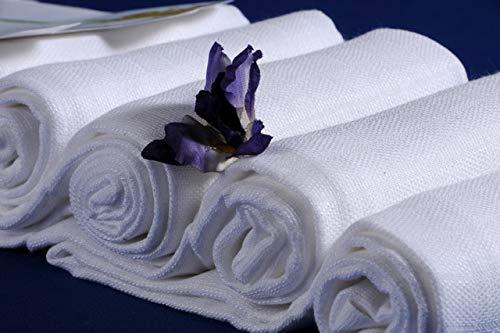PREM International 83020 Lot de 10 langes en peluche Blanc 70 x 70 cm
