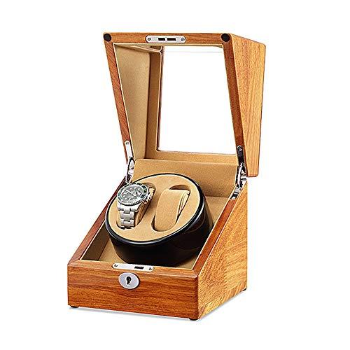 Oksmsa Madera Cajas Giratorias para Relojes para 2 Automático Relojes con Motores Silenciosos Y 5 Modos De Rotación por C.A. Adaptador O Batería (Color : B)
