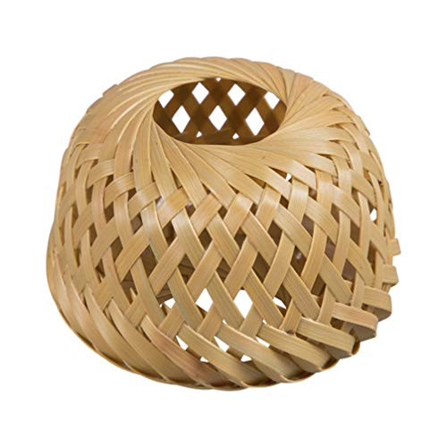 UPKOCH Posavasos de Tetera de Bambú Tetera Trivets Soporte de Tapa de Tetera Mini Cesta de Ratán Suministros de Té de Kung Fu Chino (Estilo Alto)