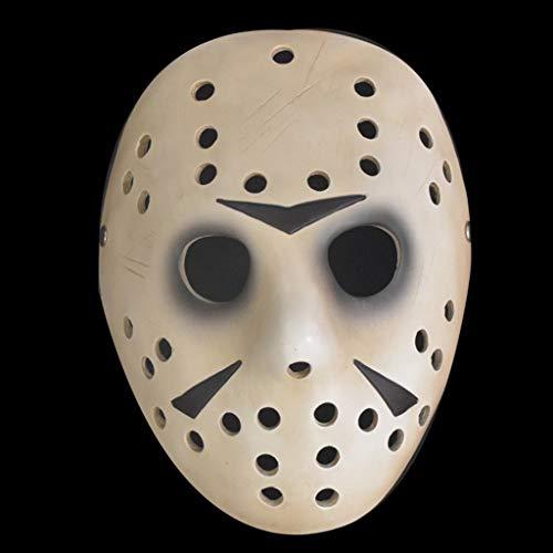 GHMOZ Vintage Adultos Máscara De Halloween Máscara De Hockey Festival Hacker Disfraz Cosplay Horror Prop Máscara Facial (Color : A)