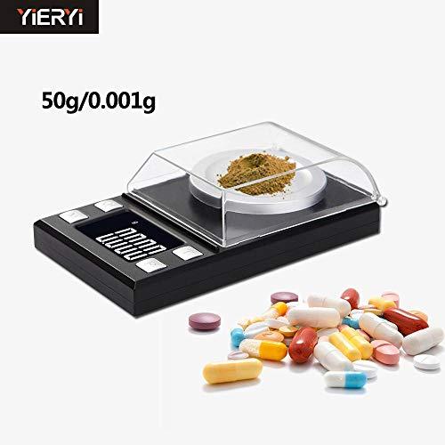 Draagbare digitale weegschaal precisietest 0,001 g vloeibaar kristal mg elektronisch medisch waarvan sieraden,10 gram