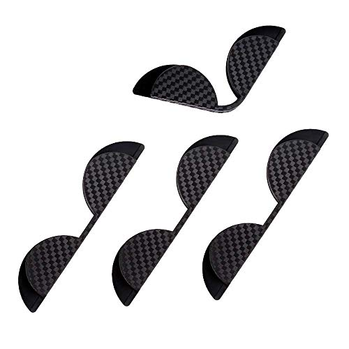 VVU Etiqueta de protección de Esquina de protección de Puerta de 4 Piezas, Tira de Almohadilla de Goma anticolisión de Puerta de PVC Dispositivo de protección anticolisión Tira Decorativa Externa
