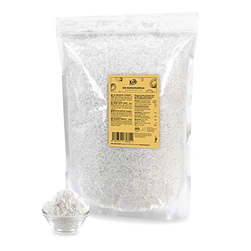 KoRo - Noix de coco râpée bio 1 kg - Naturelle, délicatement séchée, sans sucre ni conservateur