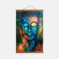 フレーム付きポスター(サイズ:30X45 Cm)カラフルな仏壁アートキャンバスポスターとプリントキャンバス絵画オフィスリビングルームの家の装飾のための装飾的な写真