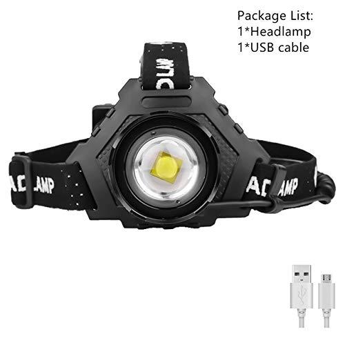 XHP90.2 8000LM LED Lampe frontale Puissant 18650 Lumière USB Lampe frontale Zoom Banque de puissance Randonnée en plein air Pêche Lumière Paquet A