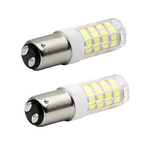 7117 BD15 LED Birnen (52.1) 2PCS 4W High Quality Super Kaltes Weiß 6000K LED Glühbirne, 40W Halogen-Equivalent SBC Kleine Bajonett LED-Birnen, 12V Nicht Dimmbar Für Nähmaschinen