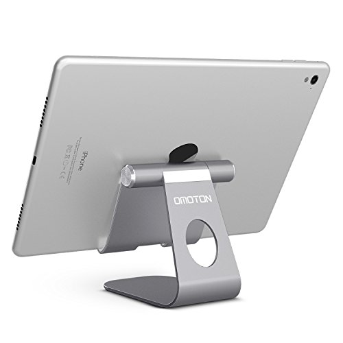 OMOTON Multi-Angle Tablet Stand, with Portable Adjustable Dock for iPad Pro 11/12.9(2020/2018)/iPad 10.2 (2019) and More iPad, Samsung Tablet etc, Durable Holder and Minimalist Design, Grey