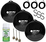 Bug Ball 3 Pack Deluxe Kit Complete- Odorless Eco-Friendly Biting Fly and Insect Killer with NO Pesticides or Electricity Needed, Kid and Pet Safe