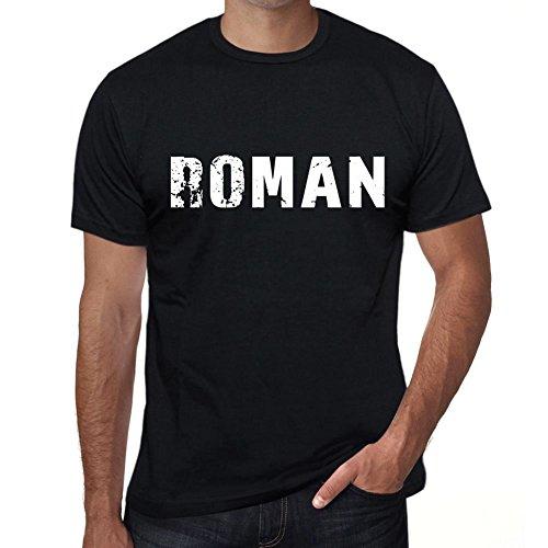 Roman Hombre Camiseta Negro Regalo De Cumpleaños 00553