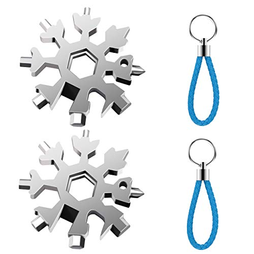 18-in-1 Snowflake Shape Screwdriver Keychain Wrench Outdoor Portable Driver Tool