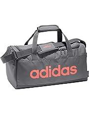 adidas Unisex Linear Core Small Duffel Bag, Grey Six/Black/Signal Coral
