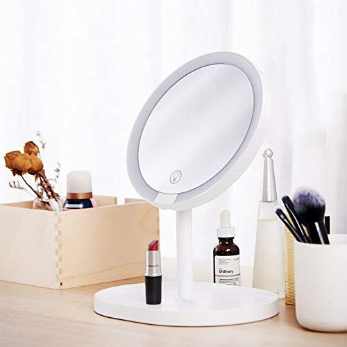 XY 2 in 1 Protable LED Touch Dimmer Specchio per trucco Lampada USB ingrandente ricaricabile per desktop di Xiaomi Youpin