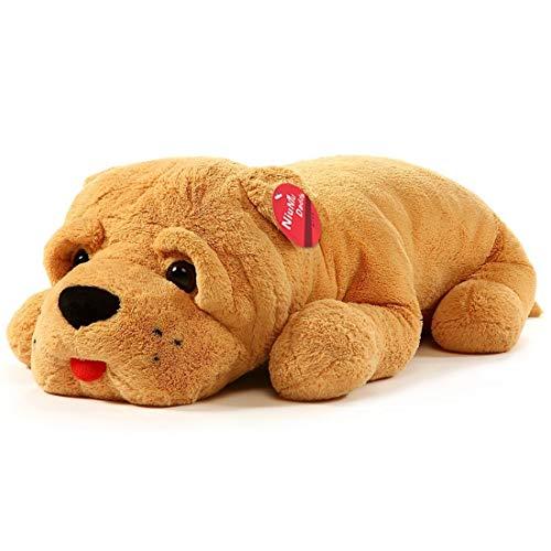 Niuniu Daddy 20 Inches Super Soft Stuffed Dog Plush Puppy Pillow Animal Hugging Pillow Plush Cute Stuffed Animal Toy for Kids