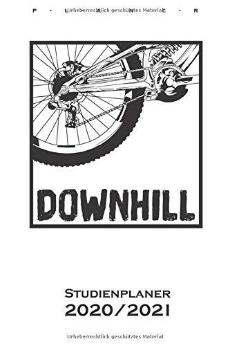 Downhill Studienplaner 2020/21: Semesterplaner (Studentenkalender) für alle Liebhaber und Fans des Zweiradsports