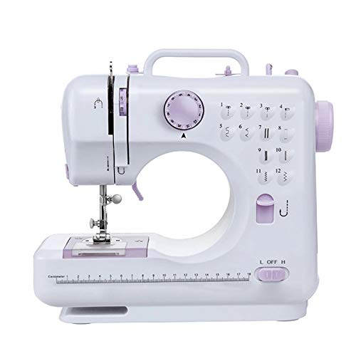 AIZYR Multifunctional Sewing Machine - Electric Portable Sewing Machines with 12 Stitches, LED Sewing Light, Foot Pedal for Beginners,UK Plug